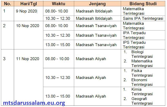 SE Pemberitahuan Jadwal KSMO Tahun 2020