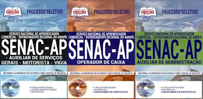 Apostilas SENAC AP 2018 processo seletivo