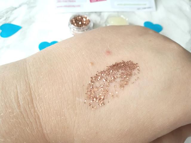 Glisten Cosmetics Glitter Swatch