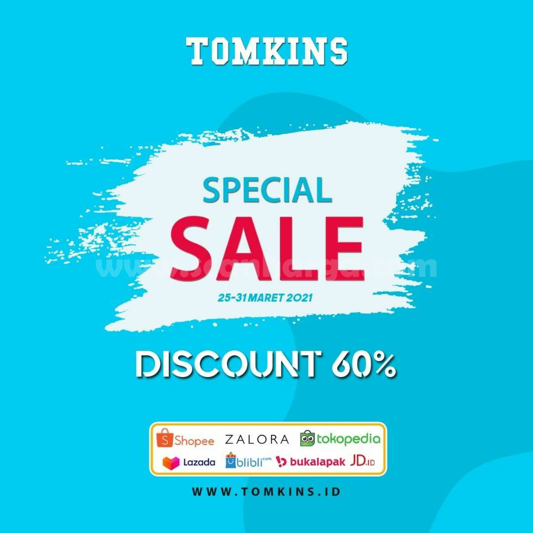 Promo TOMKINS Special SALE 60% OFF Online Store Marketplace
