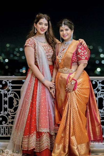 Nikitha reddy Pure Kanchipattu Saree