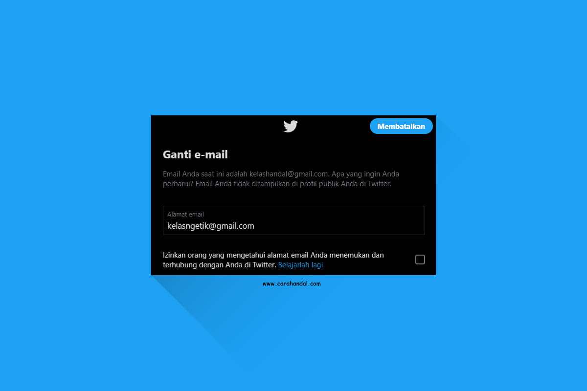 Cara Mengganti Email Akun Twitter