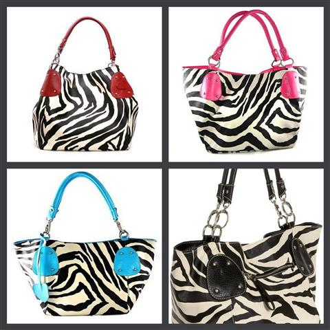 Eccentric Eclectic Woman Large Vicky Giraffe Or Zebra Print Faux