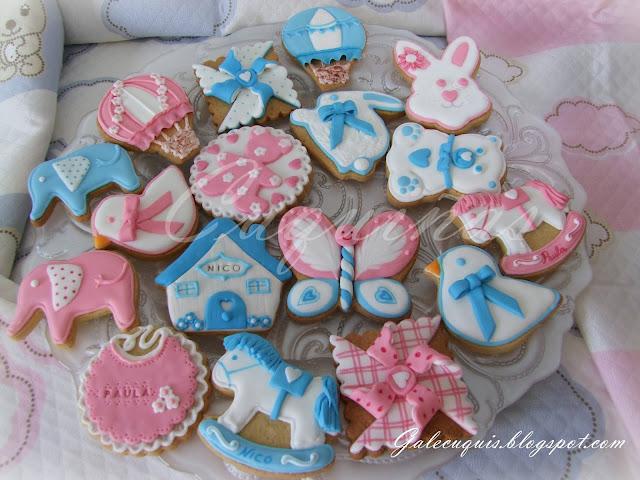 galletas infantiles rosa y azul