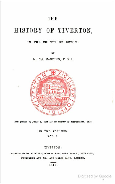 The History of Tiverton in the County of Devon, Vol. I (William Harding, 1845)