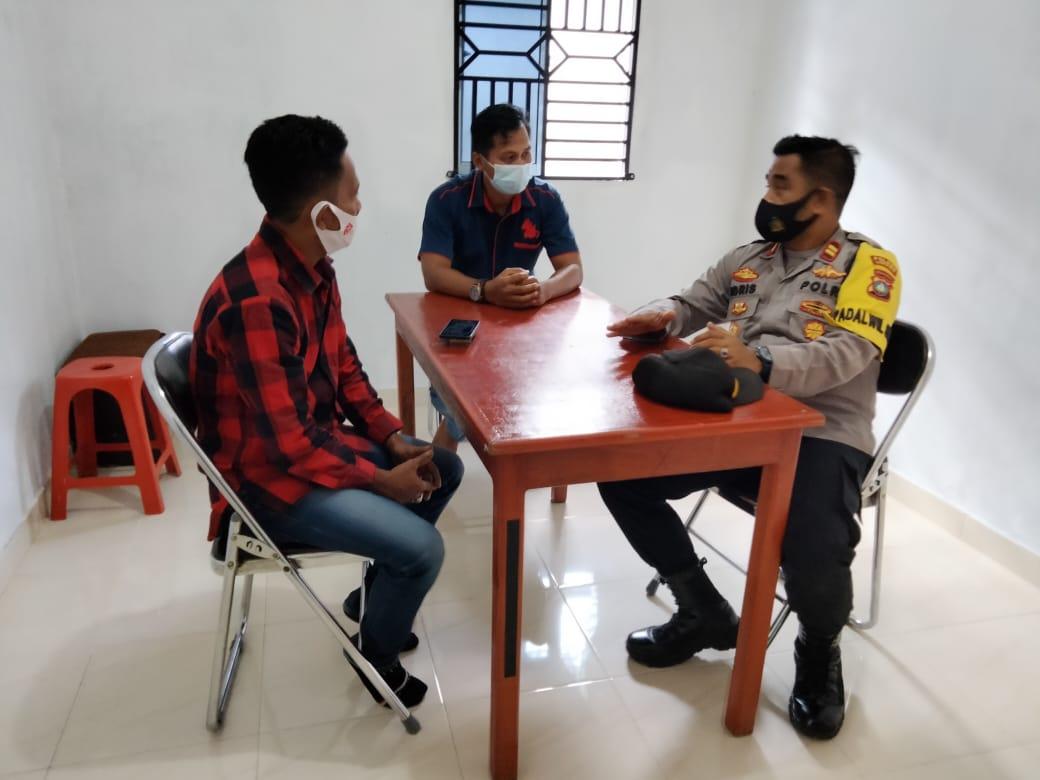 Sukseskan Pilkada 2020, Kapolsek Singkep Lakukan Silaturahmi dan Koordinasi Ke Kantor PPK Kecamatan Singkep Barat