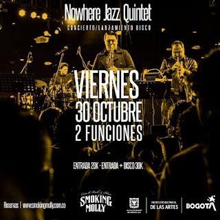CONCIERTO de lanzamiento Nowhere Jazz Quintet ¡Nuevo Disco!