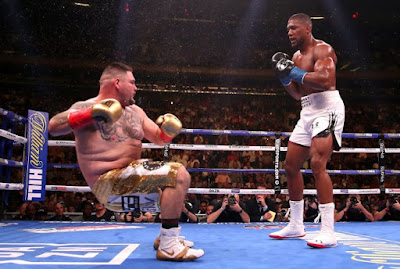 Anthony Joshua drops Andy Ruiz Jr.