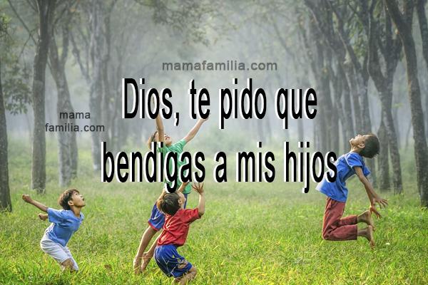 frases oracion por los hijos Dios te bendiga