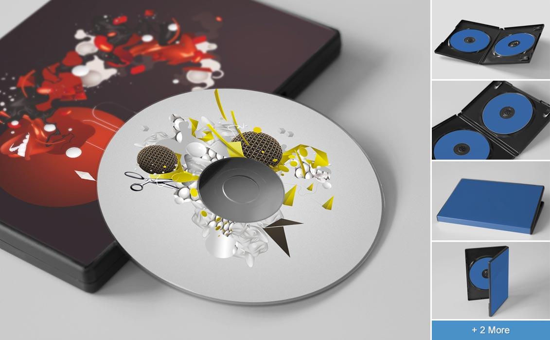 CD/DVD Disc & Cover Mockups