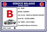 B Sınıfı Sürücü Belgesi Ehliyet