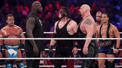 The Big Show junto a Shaquille O'Neal y Kane