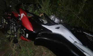 Acidente envolvendo moto deixa uma vitima fatal em Cacimba de Dentro