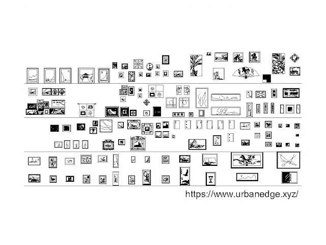 Picture frames cad block download, 145+ Picture frame cad block