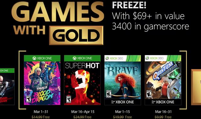 Games with Gold presenta los juegos gratuitos de marzo