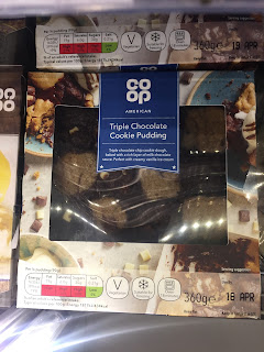 co op triple chocolate cookie pudding