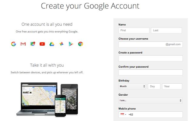Cara Buat Gmail Atau Email Lengkap - Gmail