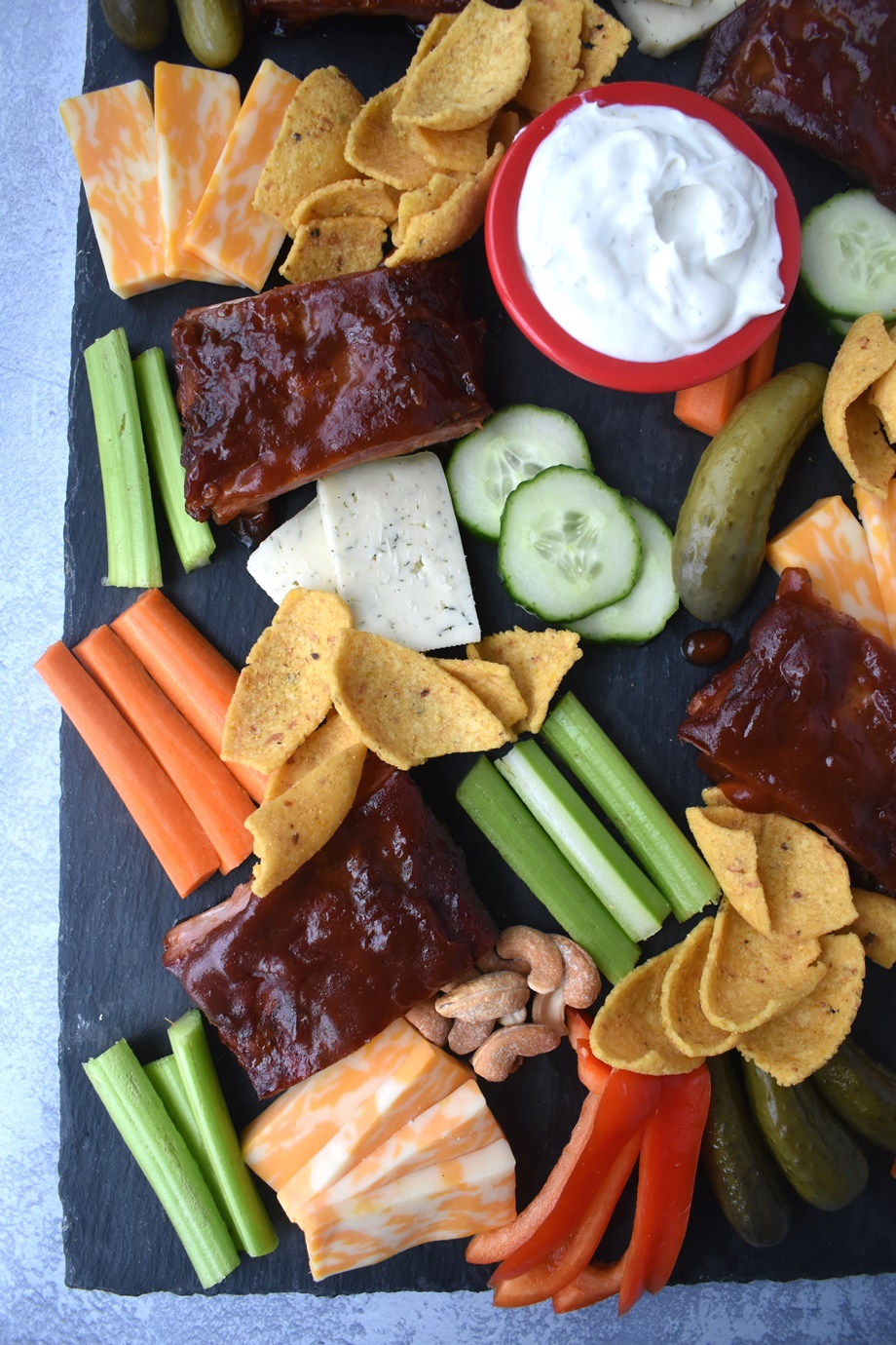 big game snack board