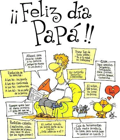 Imagen por el Día del Padre con humor a colores