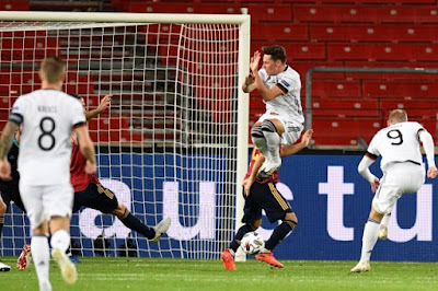 ملخص واهداف مباراة اسبانيا والمانيا (1-1) دوري الامم الاوروبية