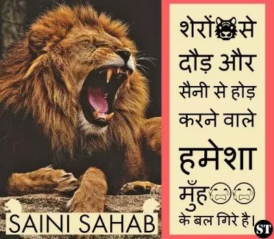 saini sahab status