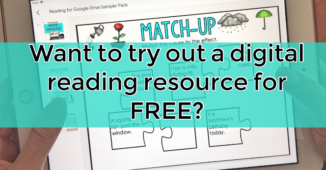 Incorporate digital technology into your literacy stations or reading block with this Google Classroom FREEBIE