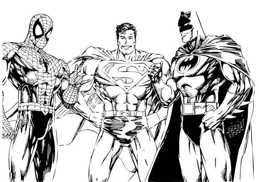 Batman,homen Aranha,super Homen,mulher Maravilha Desenhos
