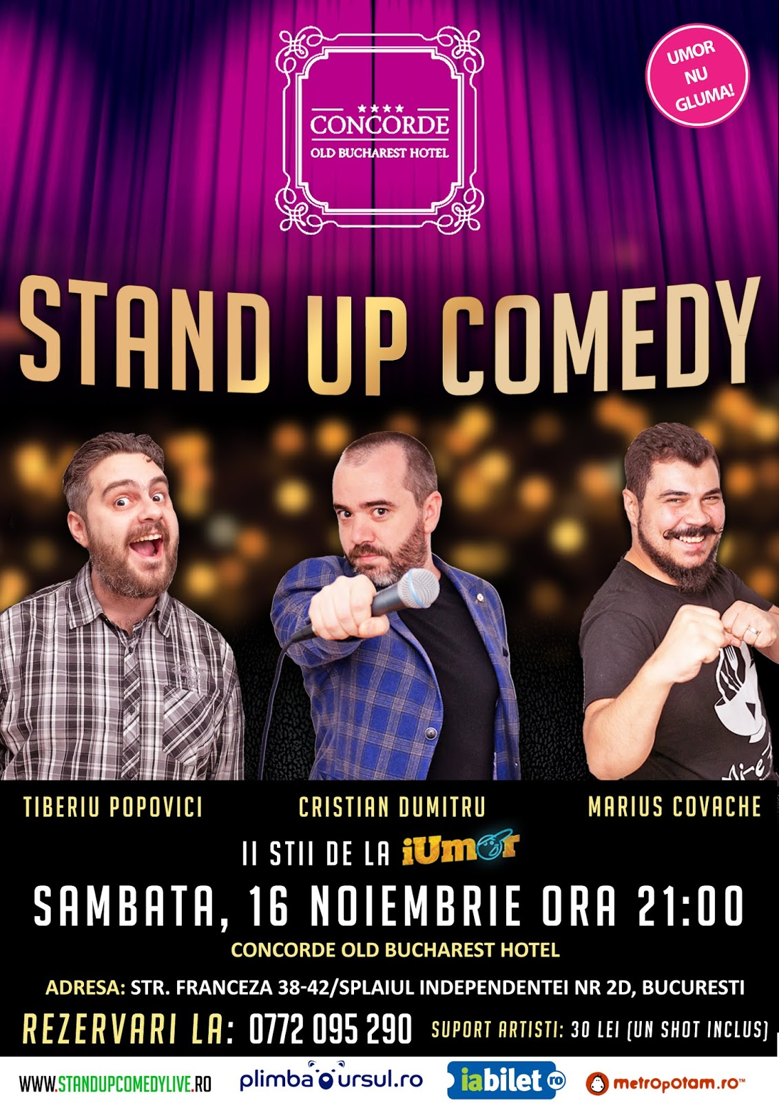 Stand-Up Comedy Sambata 16 noiembrie 2019