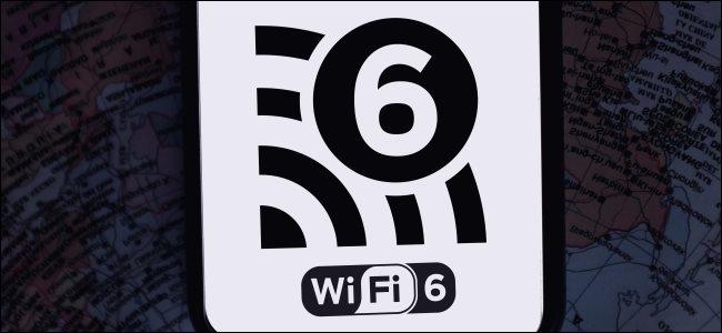 شعار Wi-Fi 6 على الهاتف الذكي.
