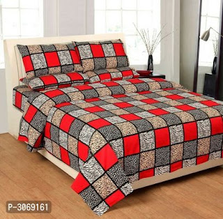Printed Poly Cotton Bed Sheet 90*100 With 2 Pillow Cover