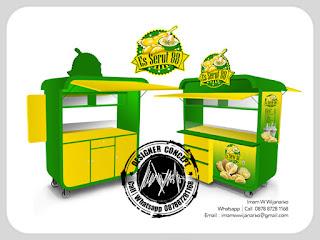 desain gerobak es serut durian