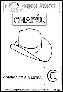 Atividade festa junina chapéu
