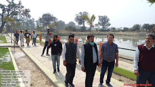 पार्क और माडल तालाब देख संयुक्त आयुक्त ने जताया संतोष | #NayaSaberaNetwork