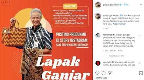 Warga Jawa Tengah Sangat Senang, Gubernur Ganjar Pranowo Siap Jadi Endors