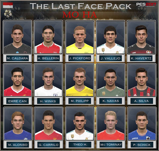 PES 2017 Last Facepack dari Mo Ha