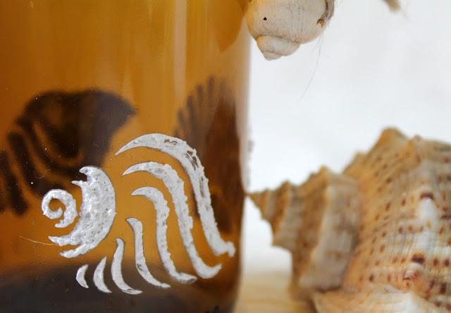 из ракушек, морская композиция