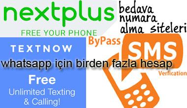 Bedava yabancı numara alma siteleri 2019 - Free sms verification sites