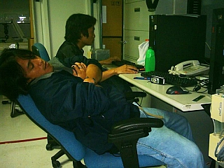 A man suffering from burnout at work place