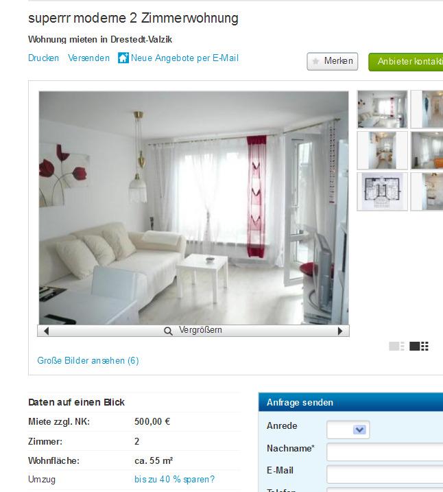 Wohnungsbetrug.blogspot.com: Moderne Angebote 2 Zimmer