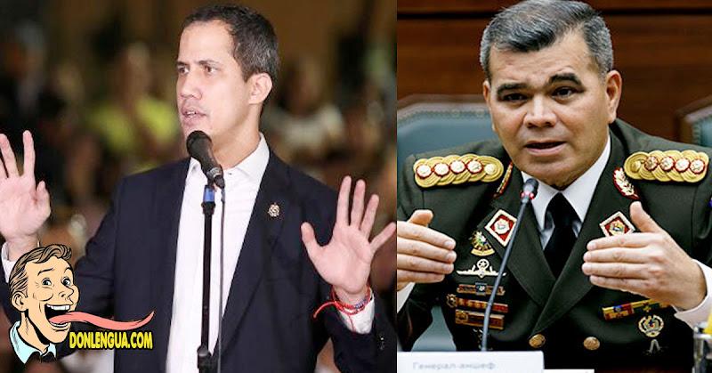Juan Guaidó repudió las declaraciones de Padrino López sobre el poder político