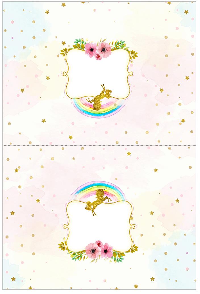 Fiesta de unicornios etiquetas para candy bar para for Paginas para hacer planos gratis
