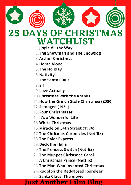 25 Days of Christmas Watchlist