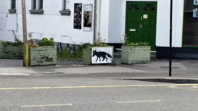 Street art black fox Sheffield