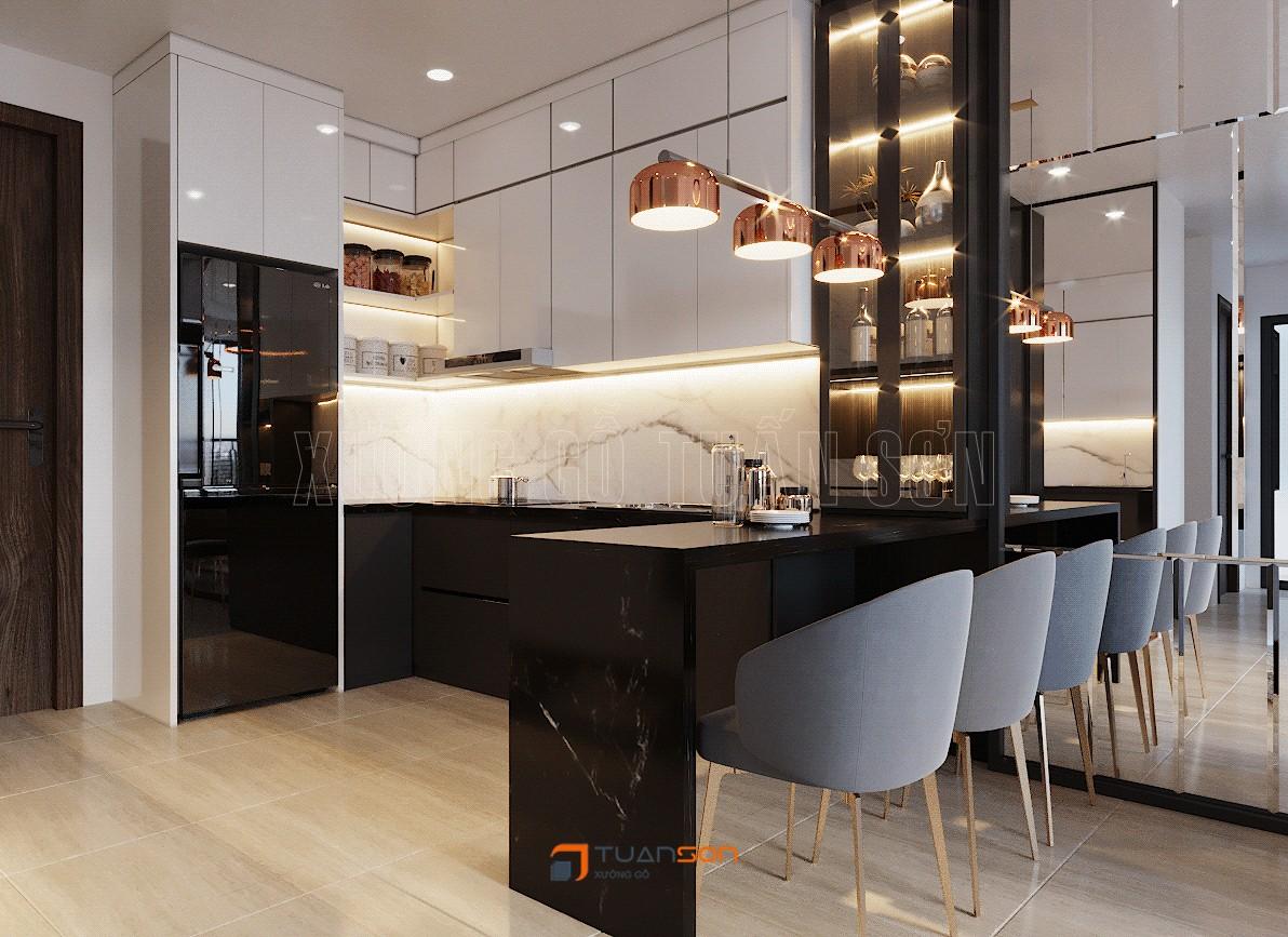 Thiết kế nội thất 2PN+1WC (55m2) S1.03-18 Vinhomes Ocean Park