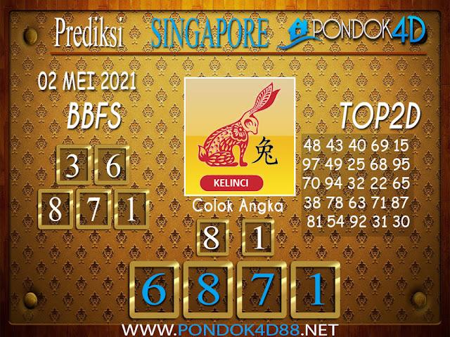 Prediksi Togel SINGAPORE PONDOK4D 02 MEI 2021
