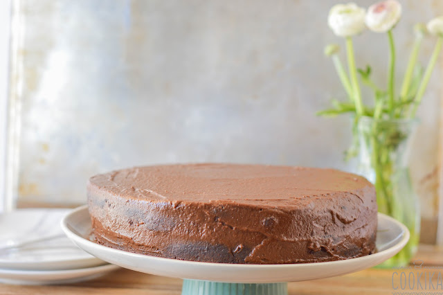 Chocolate cake with stout and Chocolate frosting