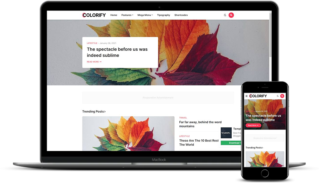 Colorify - Creative Blogger Template