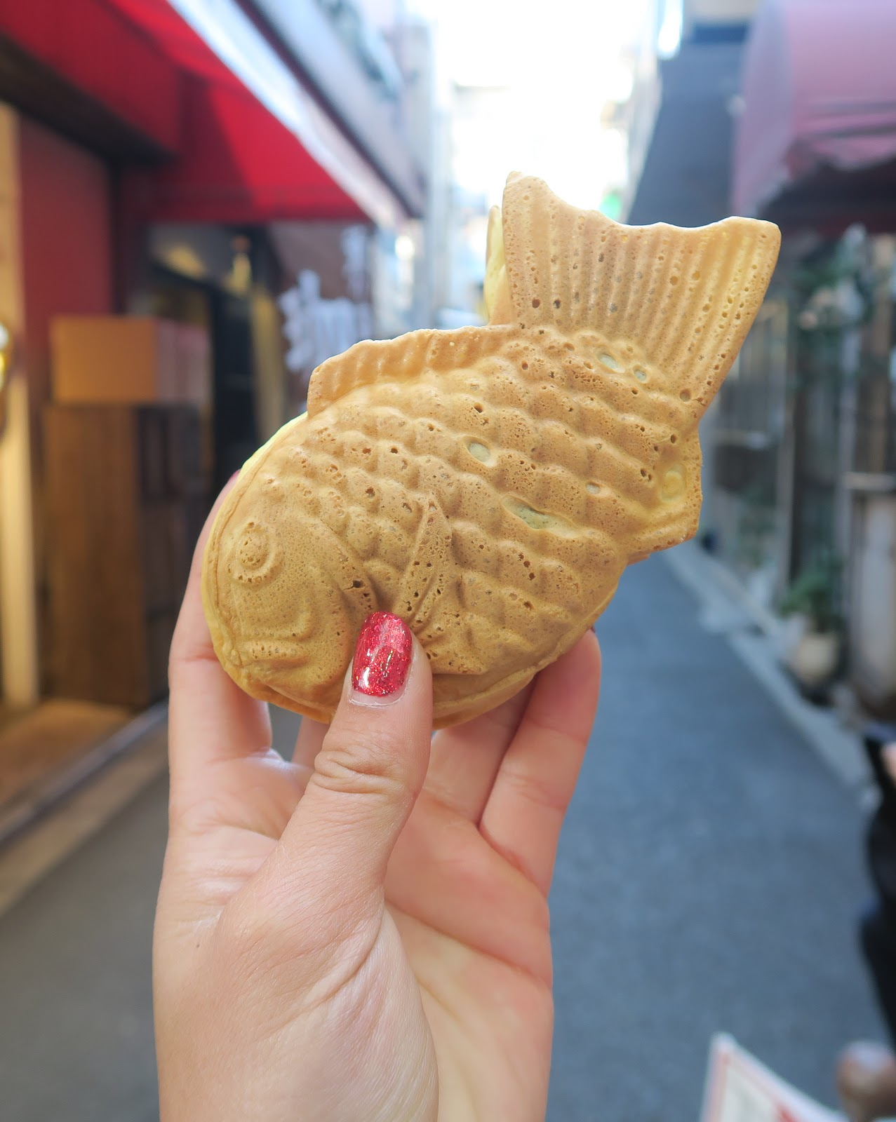 green tea fish bun japan tokyo food
