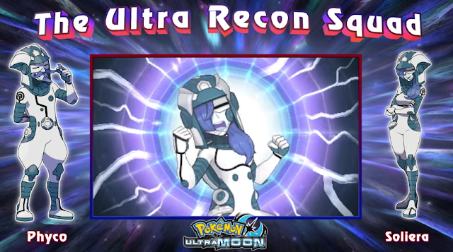 The Ultra Recon Squad Soliera Pokémon Ultra Moon battle scream yell shout