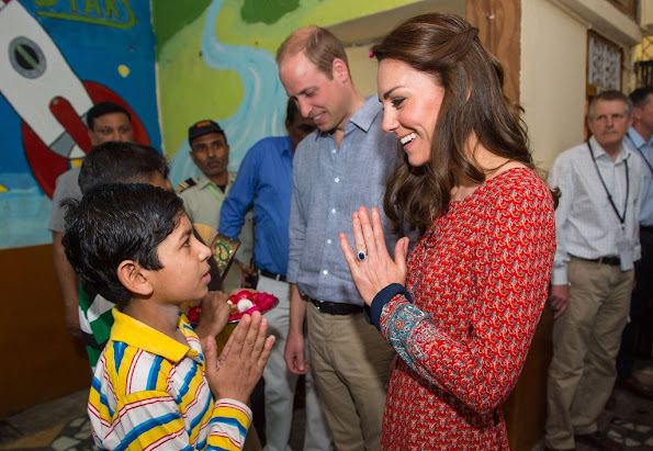William and Kate visited the Salaam Baalak Trust - an Indian non-profit and non-governmental organization
